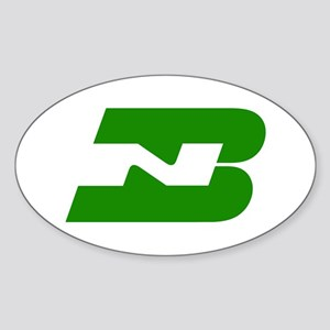 Burlington Northern Oval Sticker