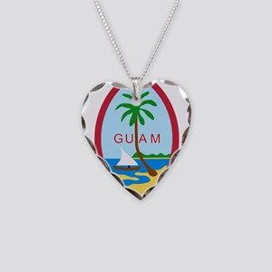 Seal of Guam Necklace Heart Charm