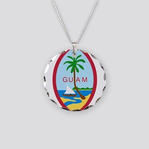 Seal of Guam Necklace Circle Charm