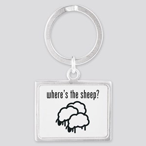 Where's The Sheep? Landscape Keychain