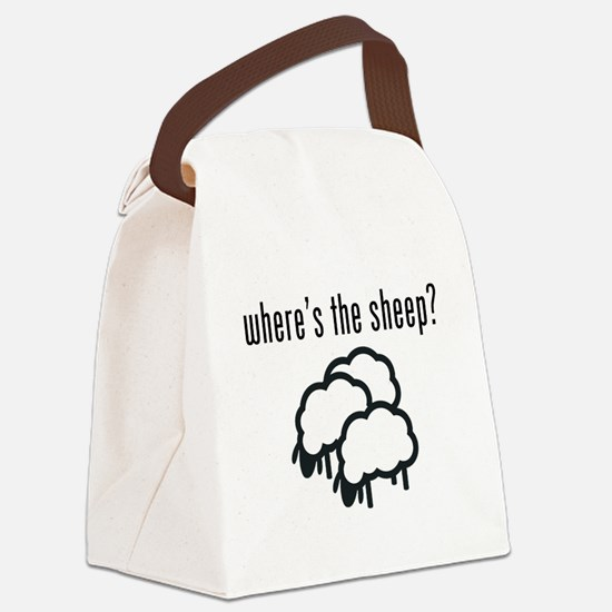 Where's The Sheep? Canvas Lunch Bag