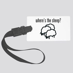 Where's The Sheep? Large Luggage Tag