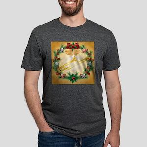 TROMBONE CHRISTMAS WREATH.p Mens Tri-blend T-Shirt
