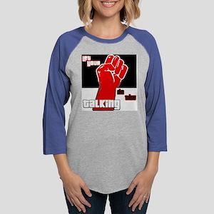 fisttalk Womens Baseball Tee