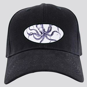 Blue Octopus Black Cap