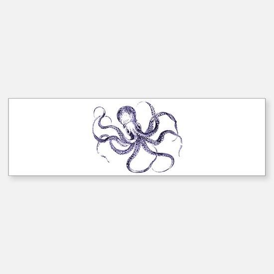 Blue Octopus Sticker (Bumper)