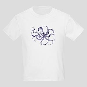 Blue Octopus Kids Light T-Shirt
