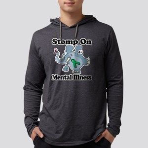 Elephant Stomp On Mental Illness Mens Hooded Shirt
