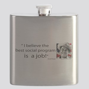 Ronald Reagan Flask