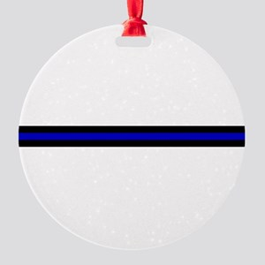 Thin Blue Line Round Ornament