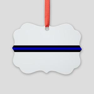 Thin Blue Line Picture Ornament