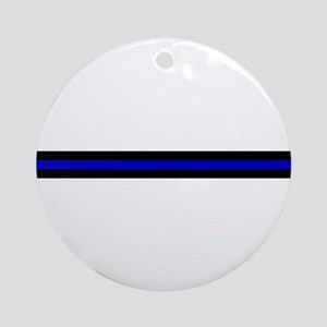 Thin Blue Line Ornament (Round)