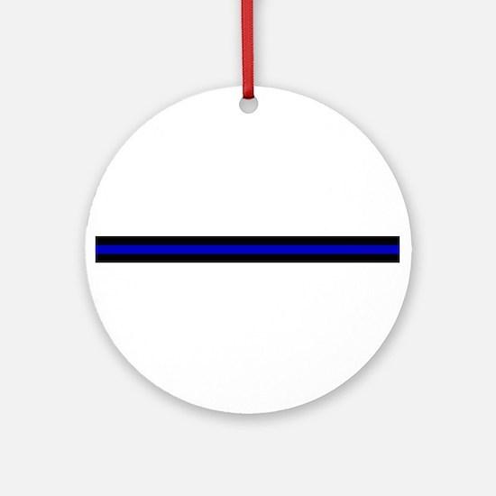Thin Blue Line Ornament (Round)