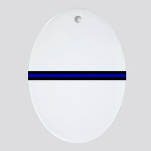 Thin Blue Line Ornament (Oval)