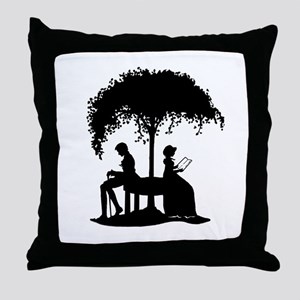 Jane Austen Lovers Throw Pillow