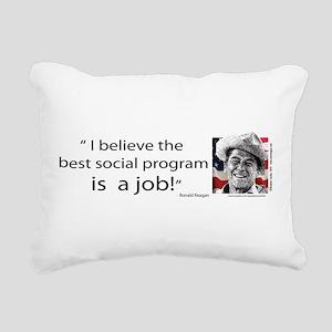 Ronald Reagan Rectangular Canvas Pillow