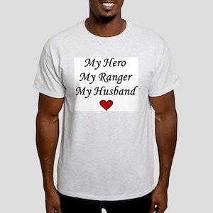 My Hero My Ranger My Husband - Army Ash Grey T-Shi