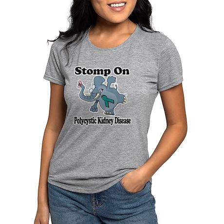 Elephant Stomp On Polycys Womens Tri-blend T-Shirt