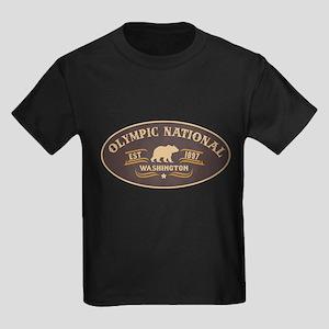Olympic Belt Buckle Badge Kids Dark T-Shirt