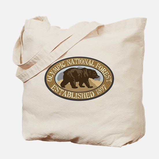 Olympic Brown Bear Badge Tote Bag