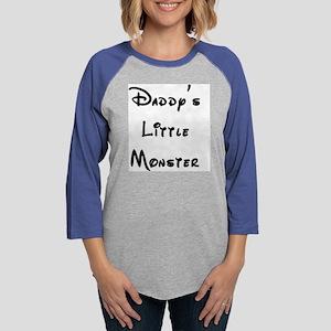 Daddys Little Monster 2 Womens Baseball Tee