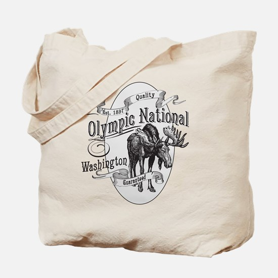 Olympic National Vintage Moose Tote Bag