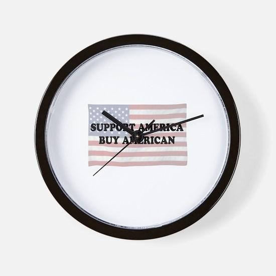 Support America - Buy American Wall Clock
