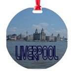 Scenic Liverpool (Blue) Round Ornament