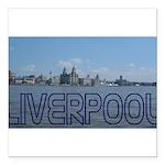 Scenic Liverpool (Blue) Square Car Magnet 3
