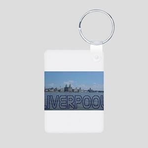 Scenic Liverpool (Blue) Aluminum Photo Keychain