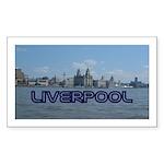 Scenic Liverpool (Blue) Sticker (Rectangle 50 pk)