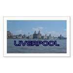 Scenic Liverpool (Blue) Sticker (Rectangle 10 pk)