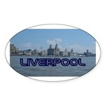 Scenic Liverpool (Blue) Sticker (Oval 10 pk)