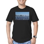 Scenic Liverpool (Blue) Men's Fitted T-Shirt (dark