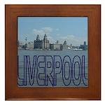 Scenic Liverpool (Blue) Framed Tile