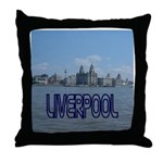 Scenic Liverpool (Blue) Throw Pillow