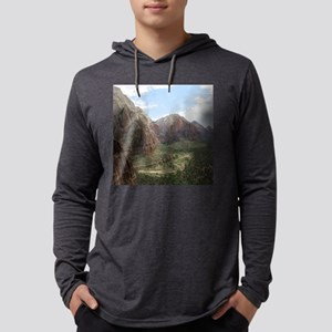 Zion Mountains Mens Hooded Shirt