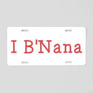 I BNana Aluminum License Plate
