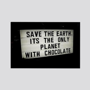 Save The Earth Chocolate Rectangle Magnet