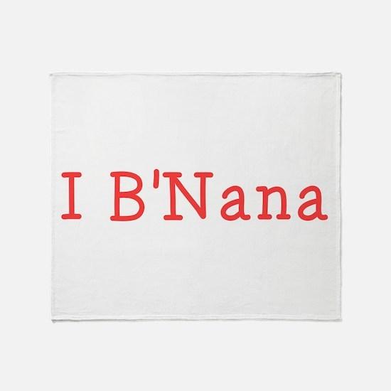 I BNana Throw Blanket