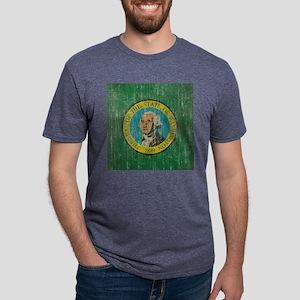 Vintage Washington Flag Mens Tri-blend T-Shirt