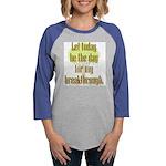 breakthru_8x8.png Womens Baseball Tee