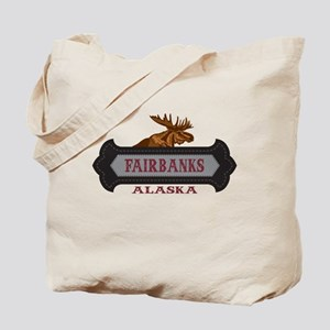 Fairbanks Fleur de Moose Tote Bag