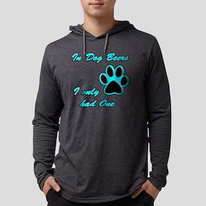 Dog Beers Mens Hooded Shirt