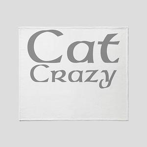 Cat Crazy Throw Blanket
