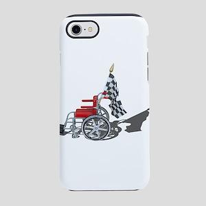 Checkered Flag and Wheelchair iPhone 7 Tough Case