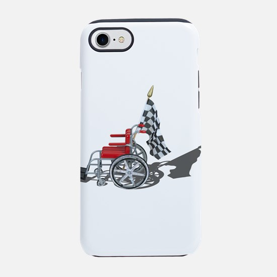Checkered Flag and Wheelchair iPhone 7 Tough Case