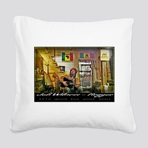 Jah Witness Reggae Square Canvas Pillow
