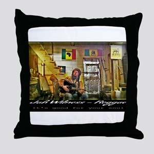 Jah Witness Reggae Throw Pillow