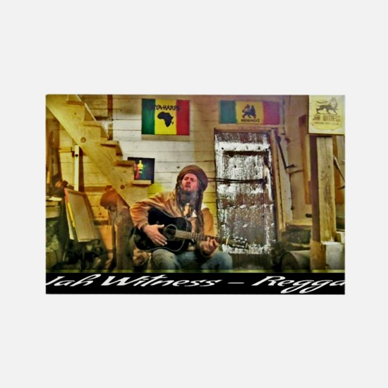 Jah Witness Reggae Rectangle Magnet